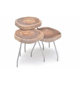 Nika set loungetafels (35x45, 35x40, 35x35)