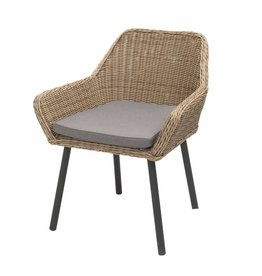 Sungai tuinstoel rond wicker