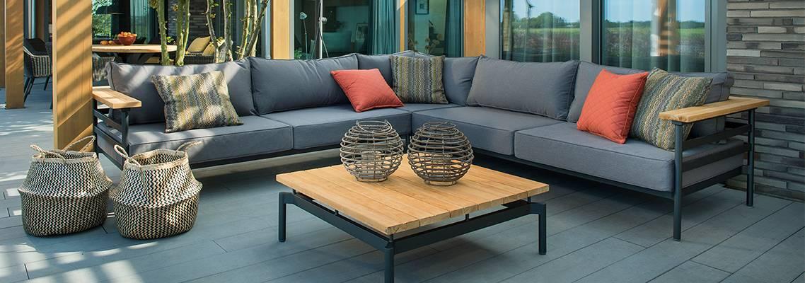 Beach7 Mulini lounge set aluminium teak