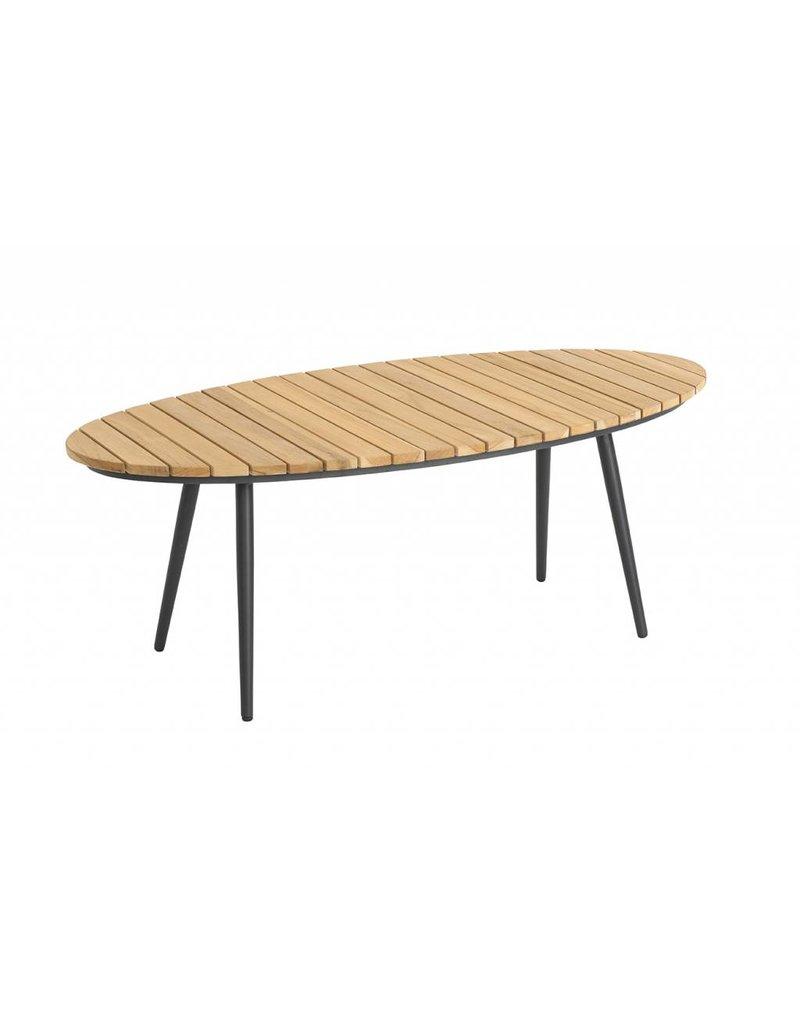 Fontelina loungetafel ovaal 120x60 zwart en wit