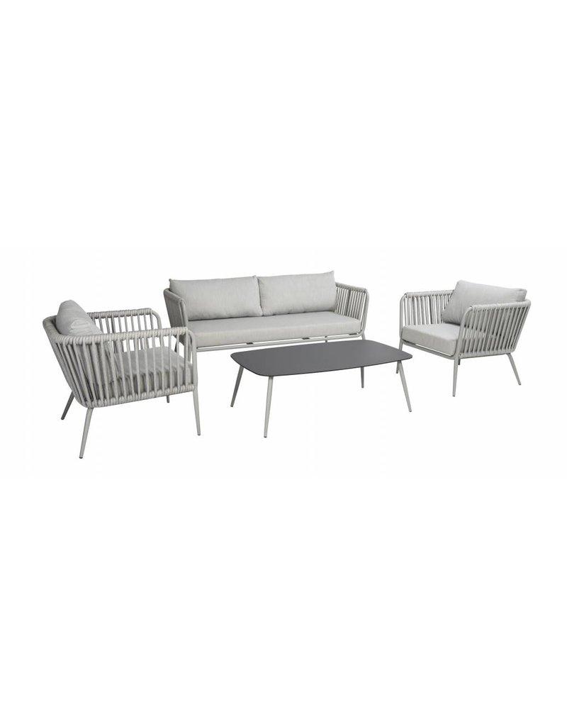 Volta 4-delige sofa loungeset aluminium rope