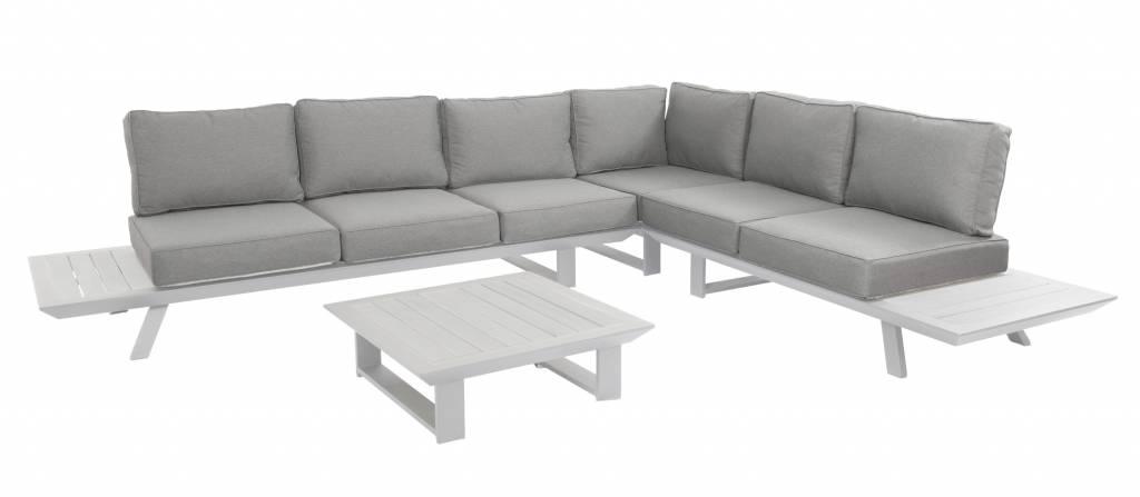 Bel Air 4-delige loungeset XL aluminium