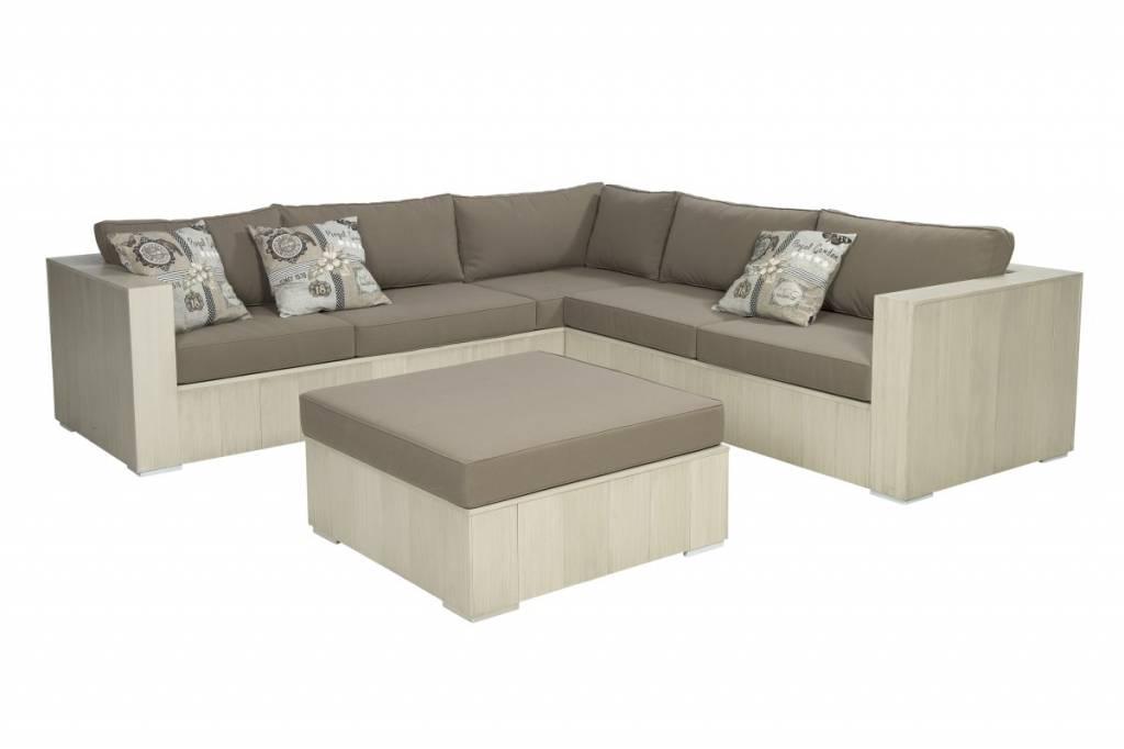 Tao 3-delige loungeset   - aluminium