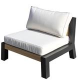 Bellevue lounge/diningstoel teak/aluminium