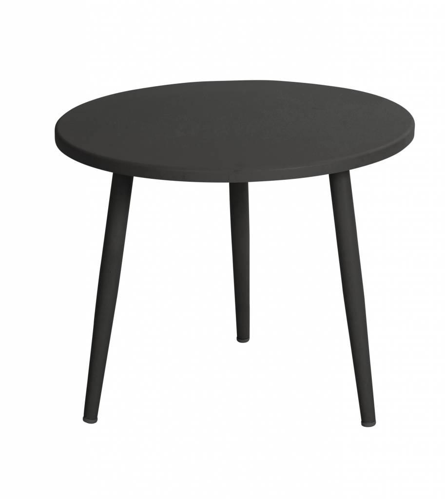 Coppa lounge tafels  50 en 55cm aluminium