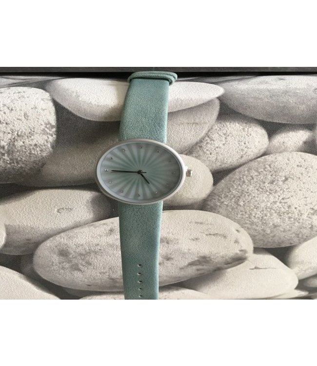 """For-You-Only custom made SQUARE HORLOGE """"JOY"""" MINT"""