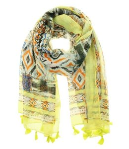 For-You-Only custom made Sjaal Savina geel