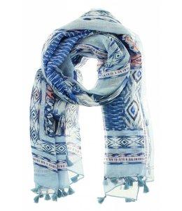 For-You-Only custom made Sjaal Savina blauw