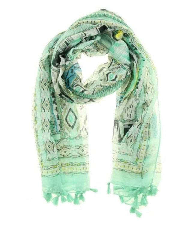 For-You-Only custom made Sjaal Savina Musthave Mint