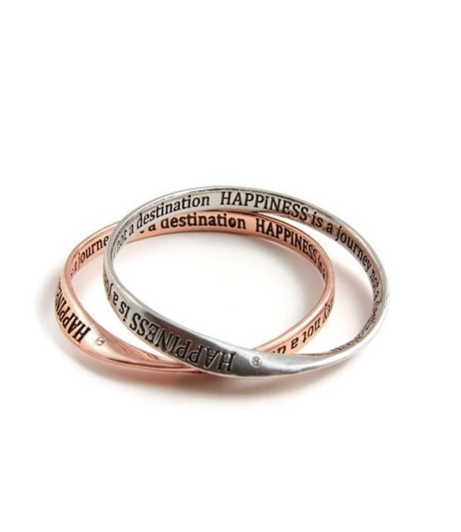 For-You-Only custom made Armband Inspiration Message Silver