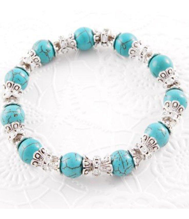 For-You-Only custom made Armband TQ Chiq Aqua crown