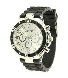 For-You-Only custom made Ernest horloge Zwart
