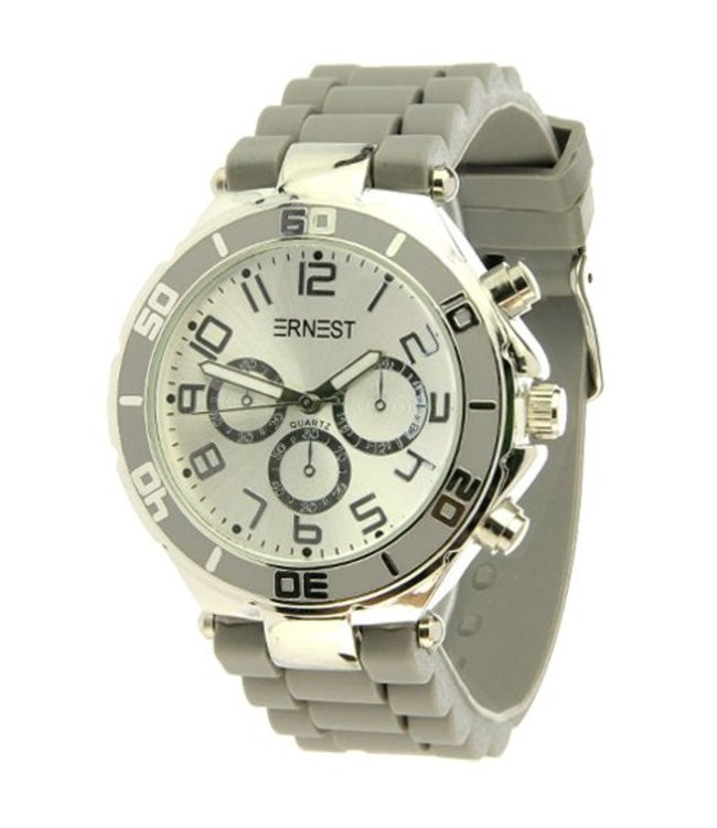 For-You-Only custom made ERNEST HORLOGE Silver case Lichtgrijs