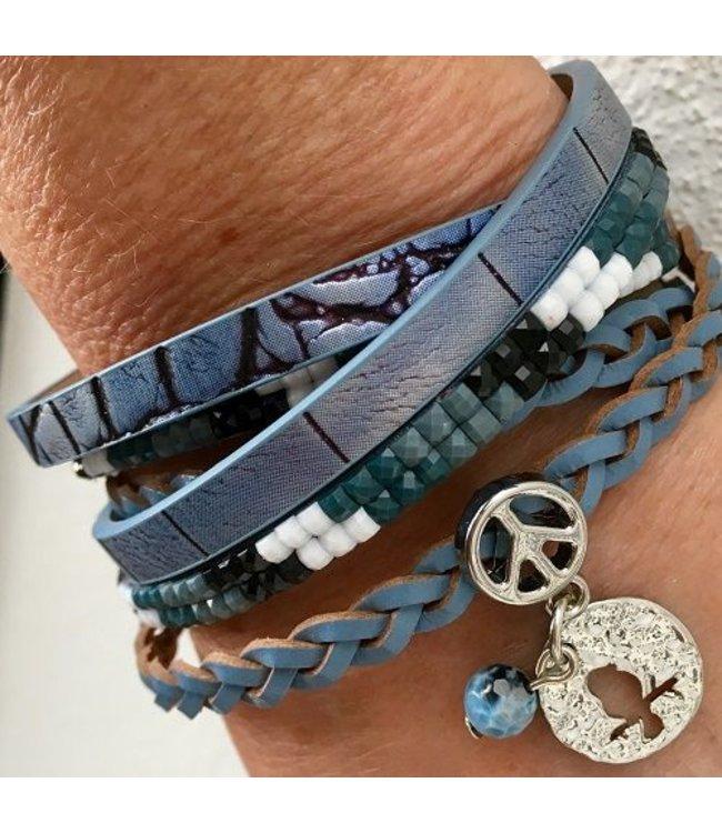 For-You-Only custom made Wikkelarmband Blue Fantasy
