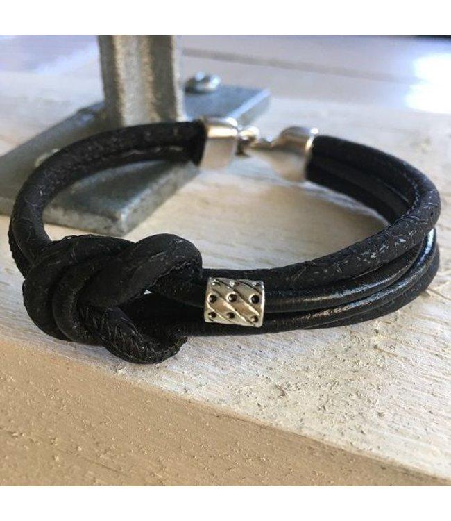 For-You-Only custom made Handmade leren  armband