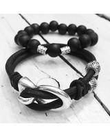 FYO byKarin Men's Bracelet Vintage Zwart Duo