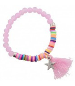 for-YOU-only Elastische Armband Roze