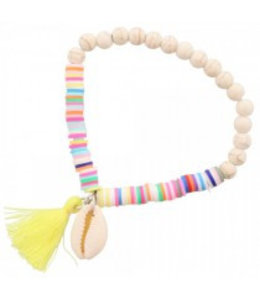 for-YOU-only Elastische Armband Wit - Multi Color