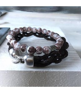 For-You-Only custom made Men's Bracelet Brown duo
