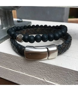 For-You-Only custom made Men's Bracelet Blue duo