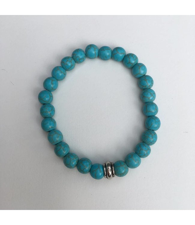 for-YOU-only Turquoise natuursteen elastische armband