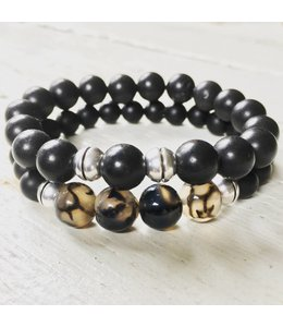 for-YOU-only Black Onyx - Dragon Veins Agaat