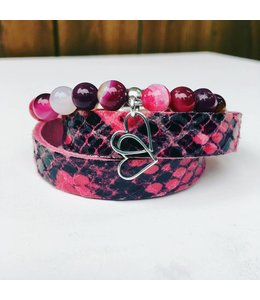 For-You-Only custom made Bracelet set Pink