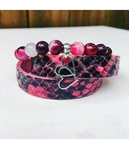 For-You-Only custom made Bracelet set Pink