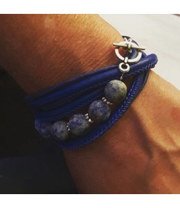 for-YOU-only Wikkelarmband Bleu Spot Jasper