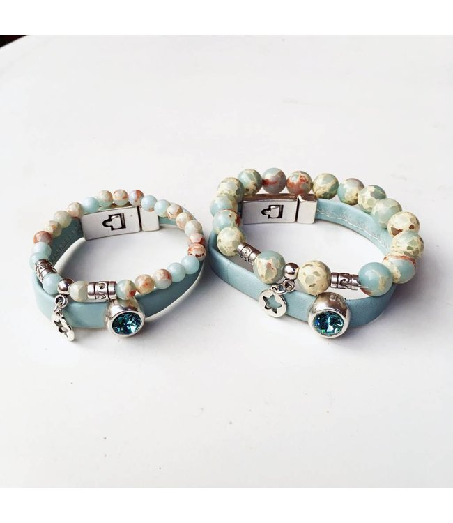 For-You-Only custom made Armbandenset 2x moeder & 2x dochter