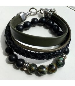 For-You-Only custom made Armband set leer