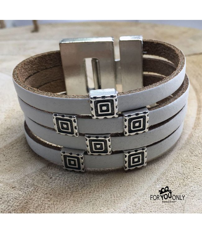 For-You-Only custom made Armband wit leer boho