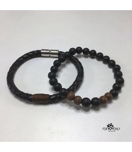 For-You-Only custom made Black/Brown set
