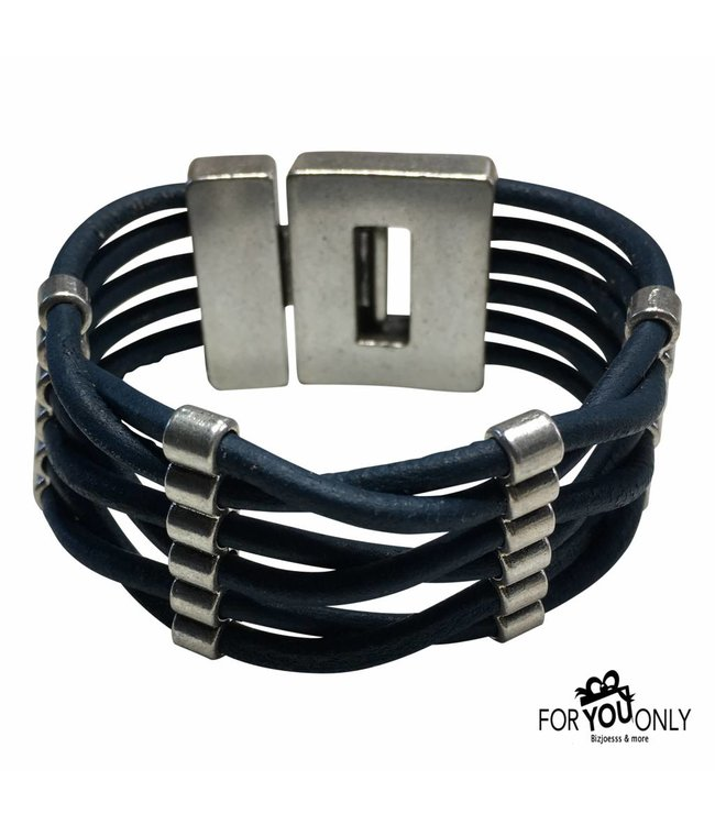 For-You-Only custom made Leren armband vintage