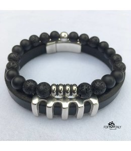 For-You-Only custom made Premium Silver Black set