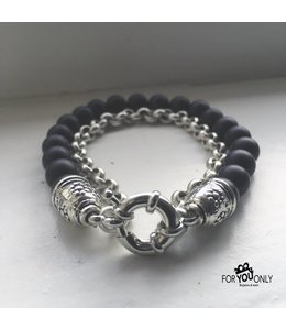 For-You-Only custom made Black Onyx chain