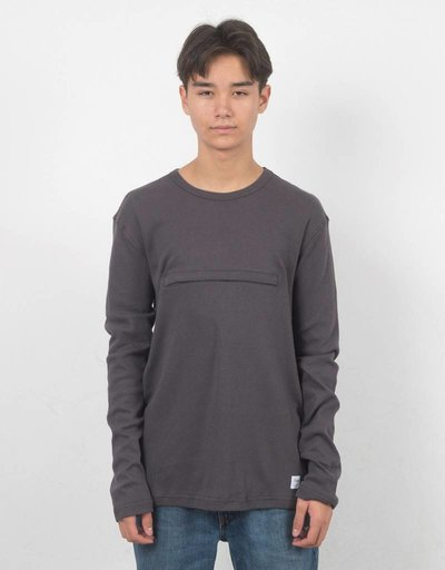 DQM Zipped Pocket 90s Heavy T-shirt Charcoal