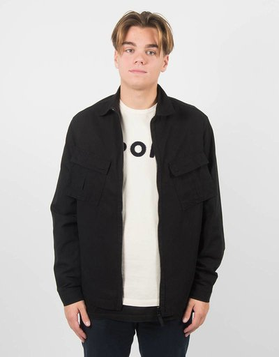 Pop Trading Co Overshirt Falling Down Jacket Black