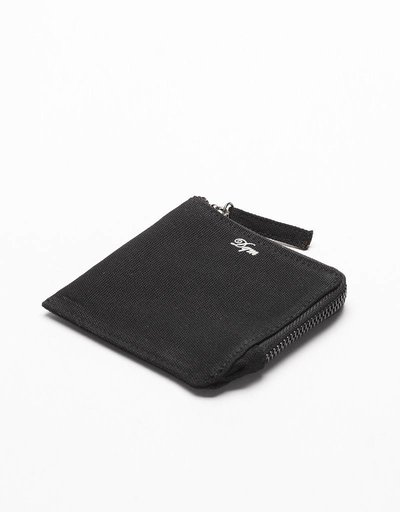 DQM Zip Coated Canvas Wallet Black