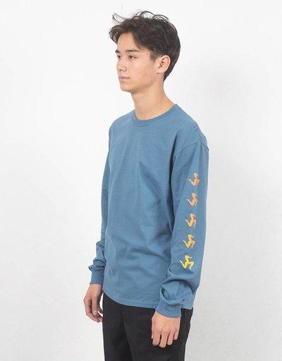 Call Me 917 Gradient Legs Longsleeve T-shirt Blue