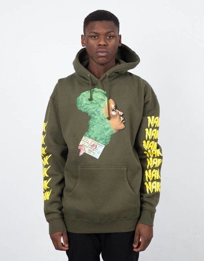 Fucking Awesome Nak Africa Hoodie Military