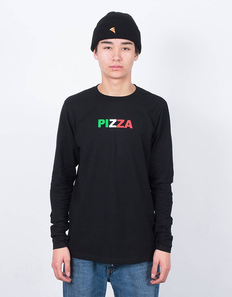 Pizza Tricolor Longsleeve Black