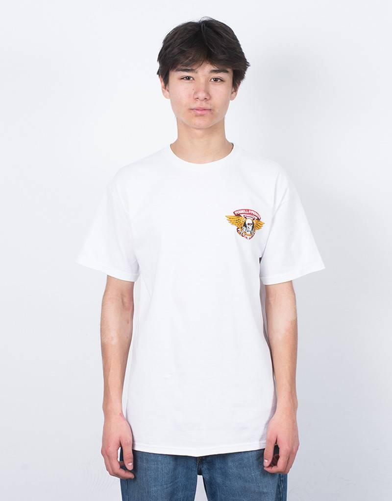 Powell bones winged ripper T-shirt white