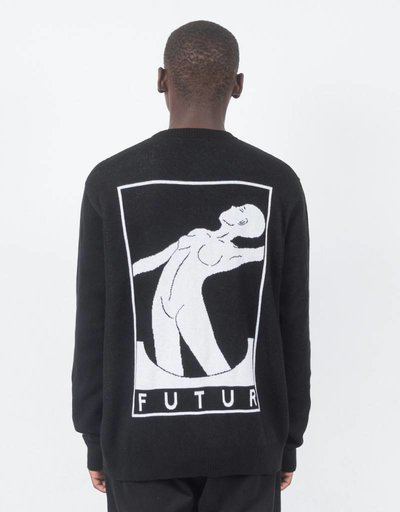 Futur 1 Knitted Crewneck Sweater Black