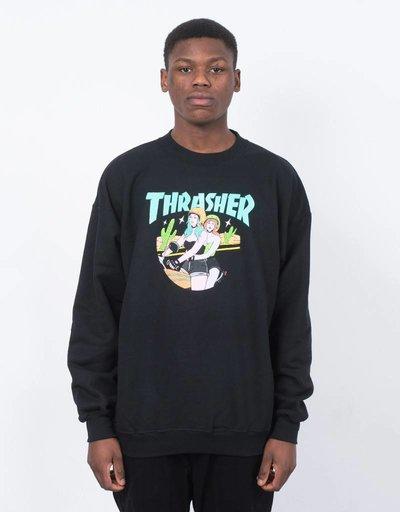 Thrasher Babes Crewneck Black