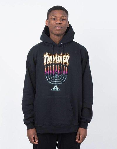 Thrasher Menorah Hoodie Black
