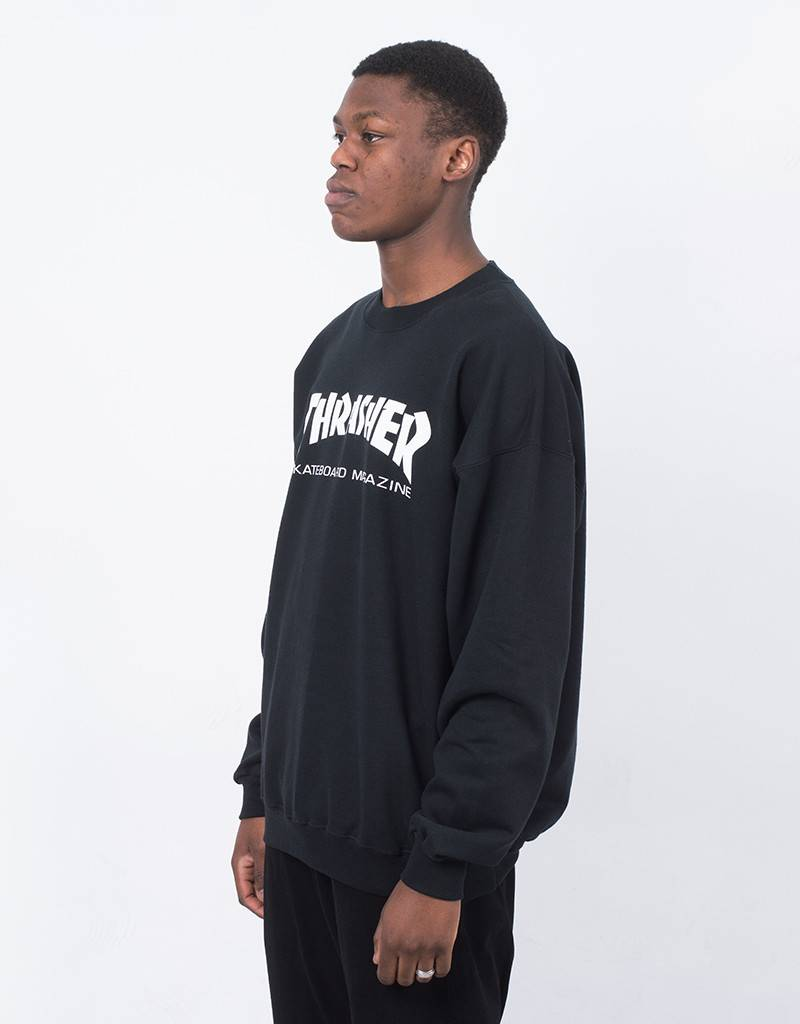 Thrasher Skate Mag Crewneck Sweater Black