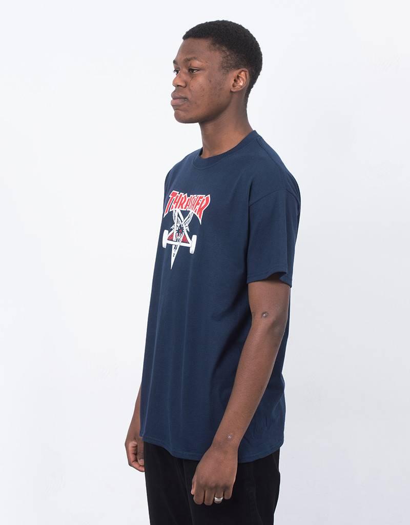 Thrasher Two-Tone Skategoat T-Shirt Navy