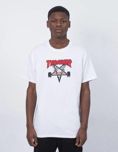 Thrasher Two-Tone Skategoat T-Shirt White