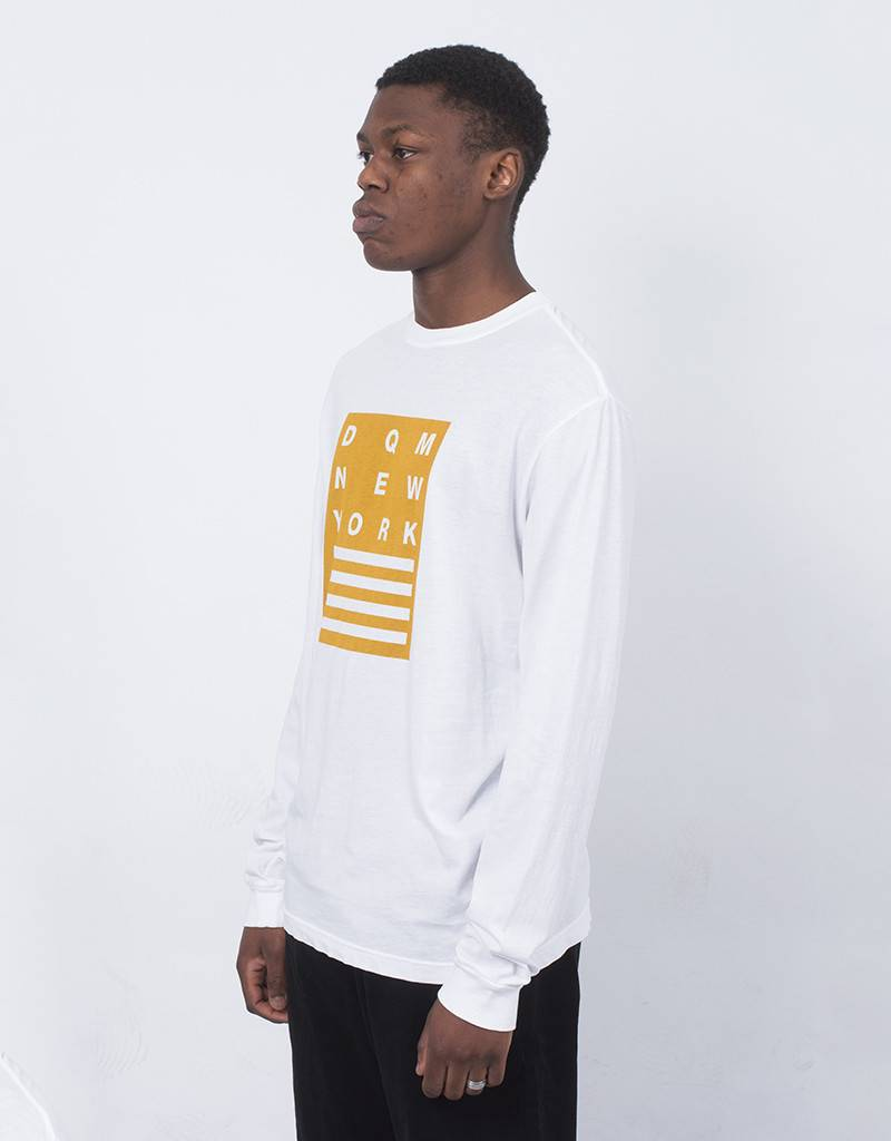 DQM Stacked Longsleeve White